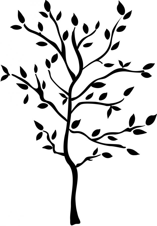 Simple clipart tree Free Art Clip Simple Free