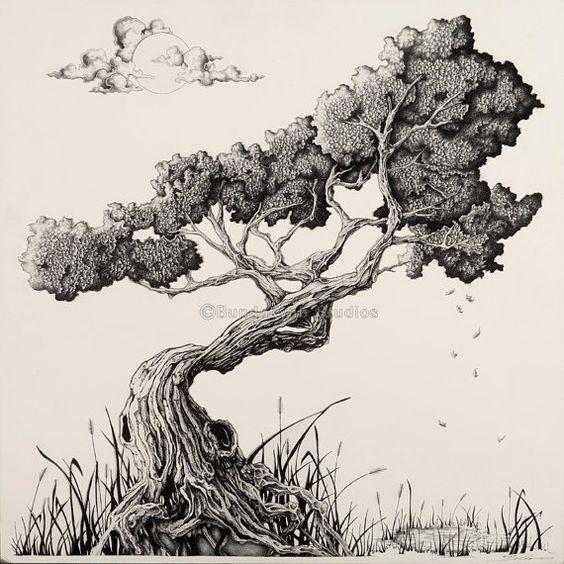 Drawn tree bonsai tree Arts: Tree  arts: 007