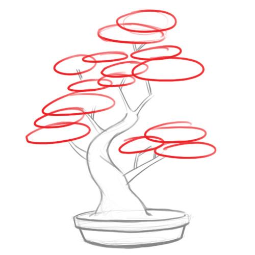 Drawn tree bonsai tree Step Tree: Pictures) Steps Leaves
