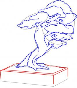 Drawn tree bonsai tree A a by Pop Tree