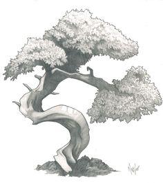 Drawn tree bonsai tree For ArtBonsai Bonsai and Draw