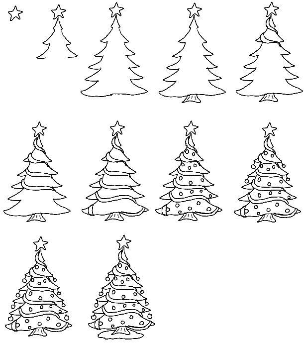 Drawn santa christmas tree 25+ Lesson ideas Drawing best