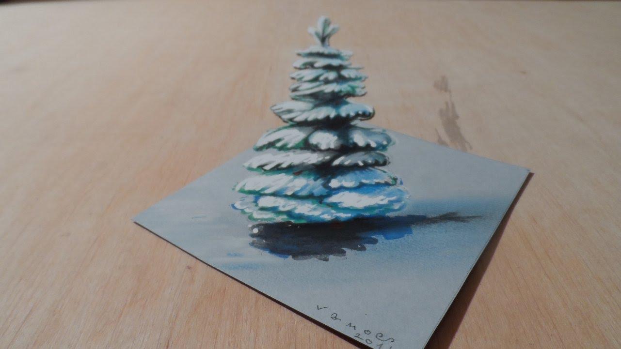 Drawn pine tree winter tree  Snowy Pine Tree Drawing
