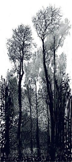 Drawn tree forest tree Tree printed photo 93 inkjet
