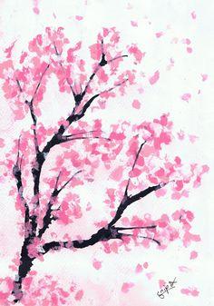 Drawn sakura blossom rose tree  blossom Google drawing Search