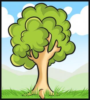 Drawn grass simple Tree How com Hellokids a