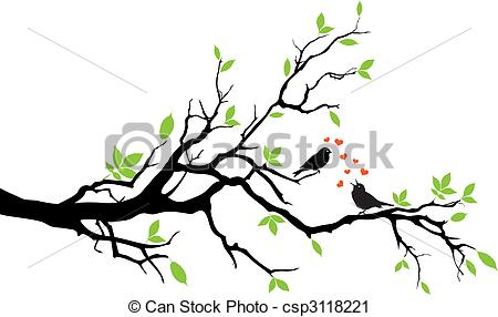 Parrot clipart tree drawing Love of Clip sitting birds