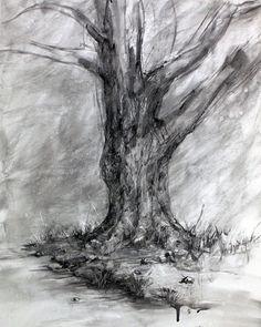 Drawn tree winter tree Tree art Pinterest Winter's my