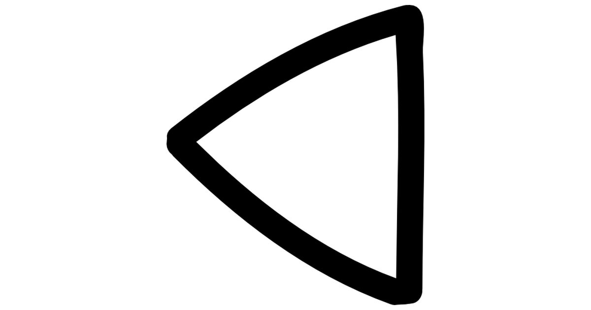 Drawn triangle Free Left arrows triangle