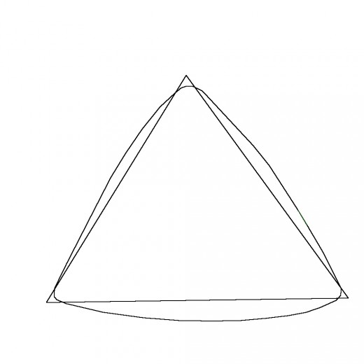 Drawn triangle To Yellow HubPages drawn like
