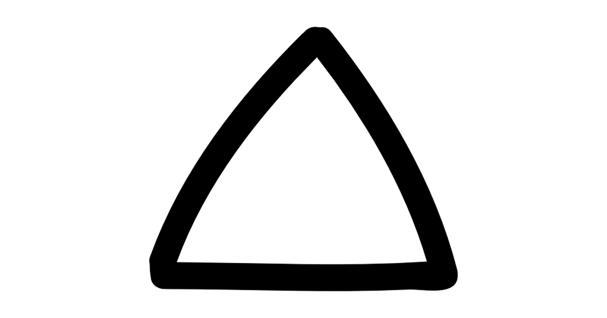 Drawn triangle Outline Up Free drawn