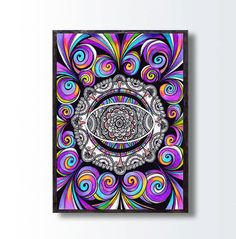 Drawn triipy abstract  Wall Art Decor Abstract