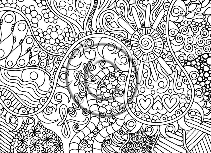 Drawn triipy abstract Inspired Zentangle Psychedelic about Kat