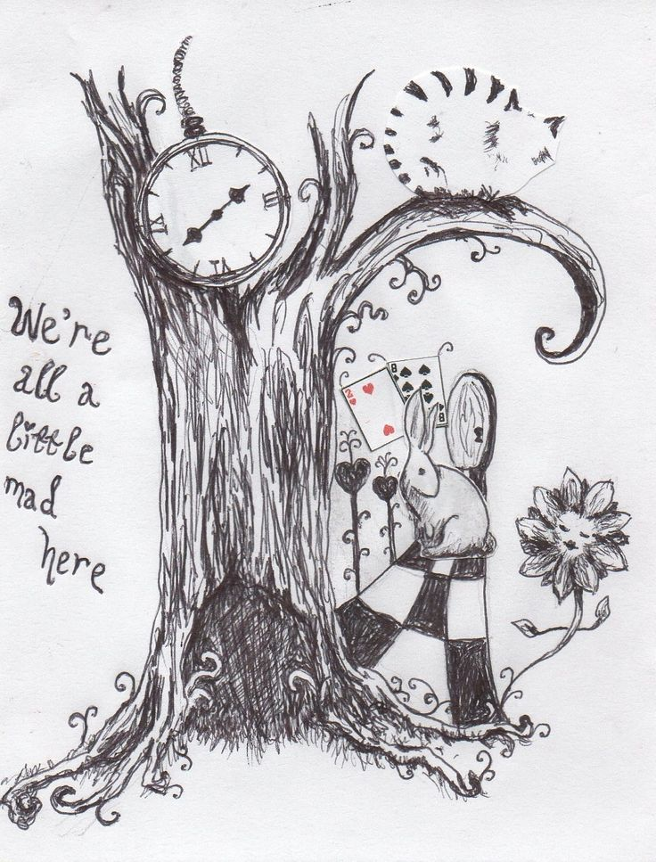 Drawn triipy alice in wonderland ( Pinterest in Wonderland best