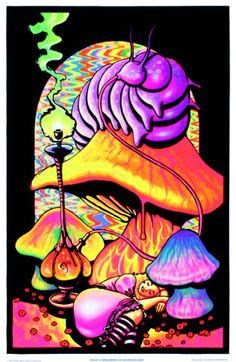 Drawn triipy alice in wonderland Peace Blacklight Poster  Pinterest