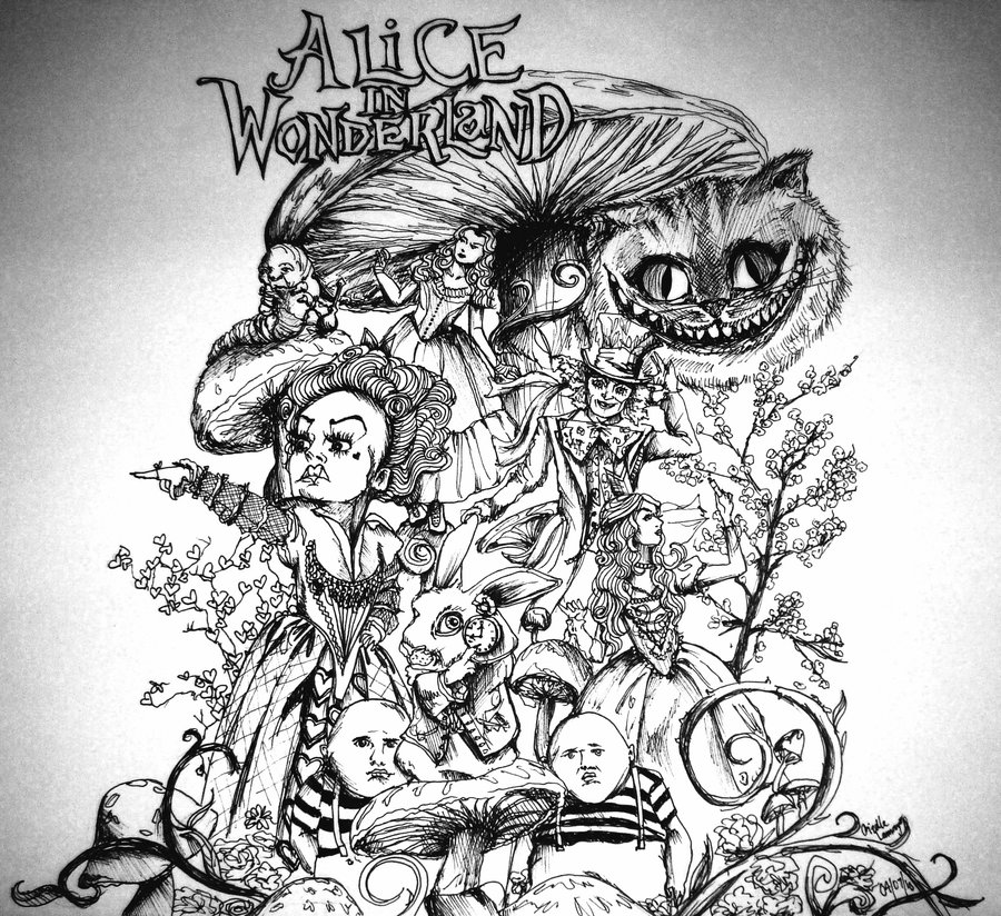 Drawn triipy alice in wonderland WONDERLAND in Wonderland Alice DRAWINGS