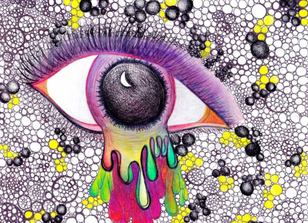 Drawn triipy art Media Art Print Eye Drawing