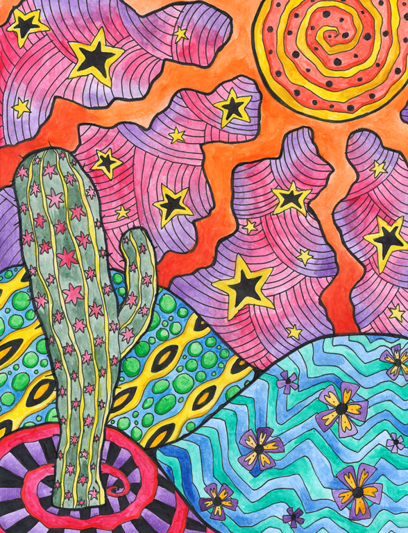 Drawn triipy cactus @deviantART  Lonely ideas by