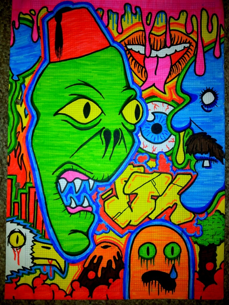 Drawn triipy cartoon character By on mushroommusic DeviantArt world