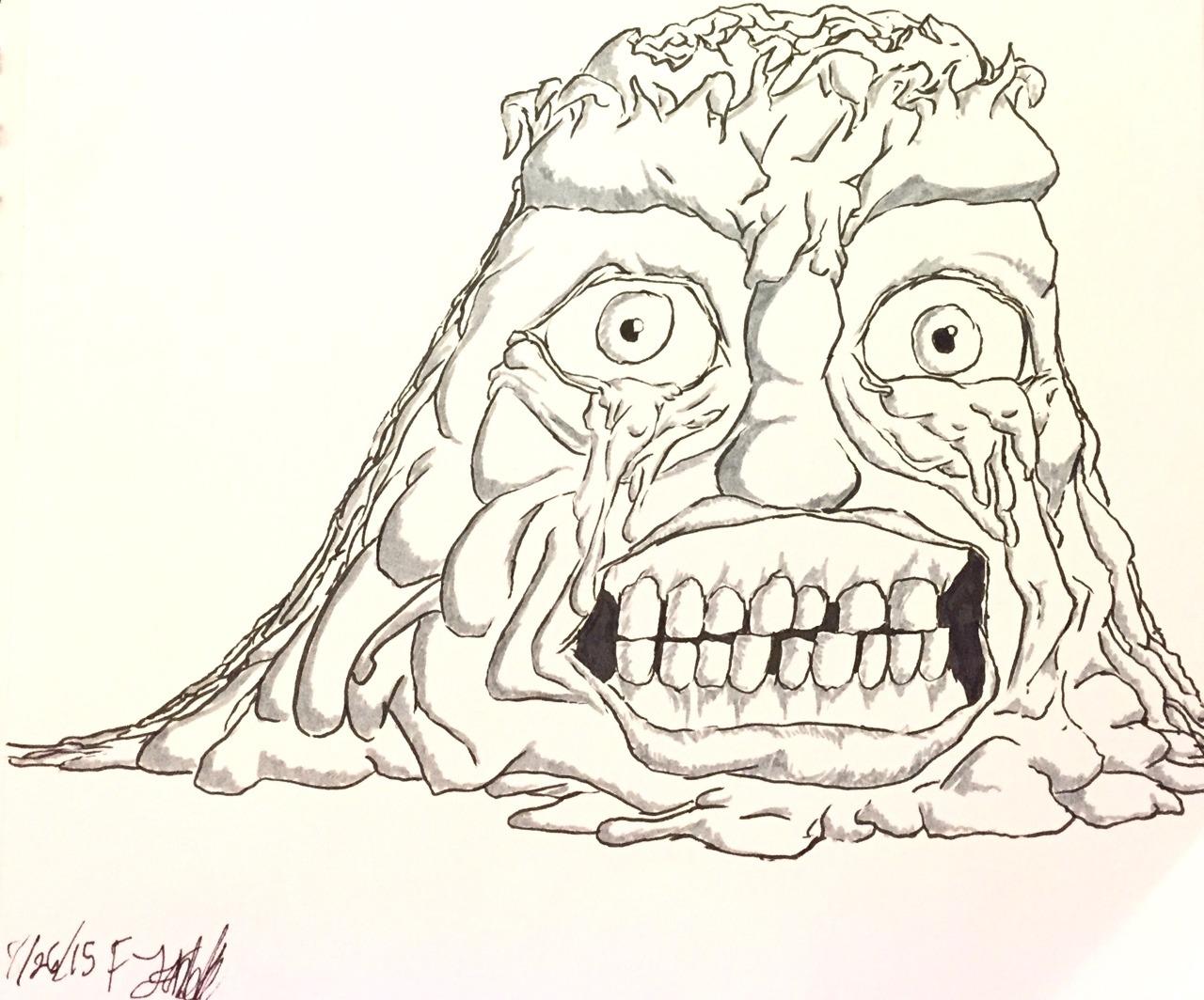 Drawn triipy cartoon character Severe goop comics artists cartoon