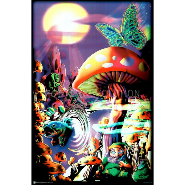 Drawn triipy cartoon character Mushrooms Cartoon Magic Mushrooms trippy