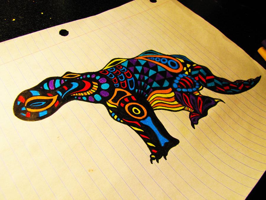 Drawn triipy dinosaur Dinosaur Trippy Dinosaur by landonvelasquez