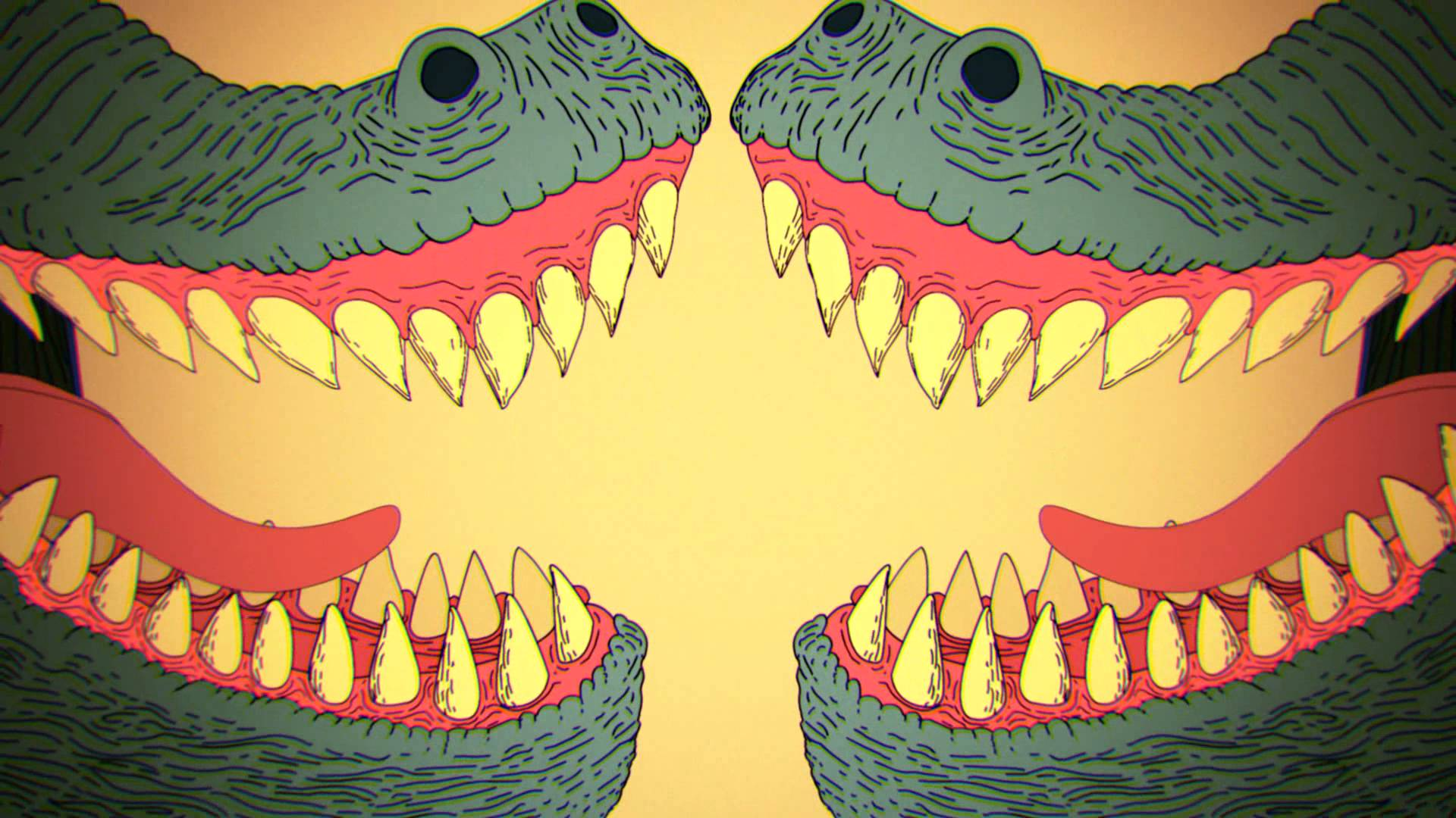 Drawn triipy dinosaur 16bit  1080p YouTube (Official