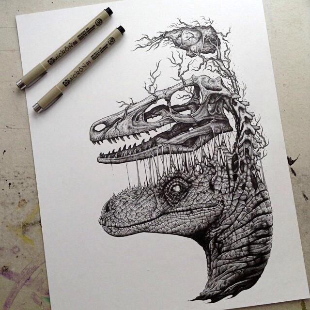 Drawn triipy dinosaur Dinosaur disposition_destructified on Instagram art