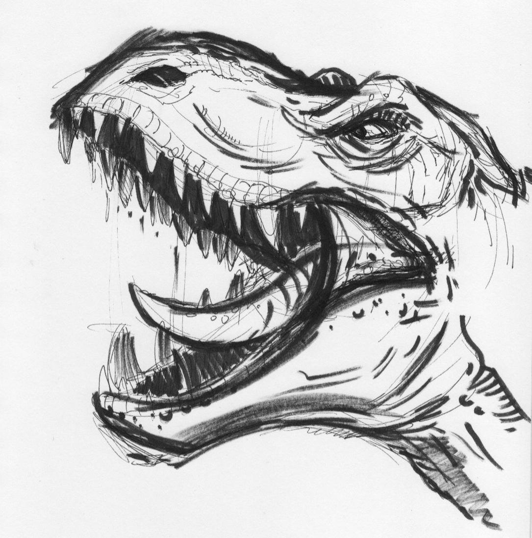 Drawn triipy dinosaur Sketch Dinosaur sketch Pretty sick
