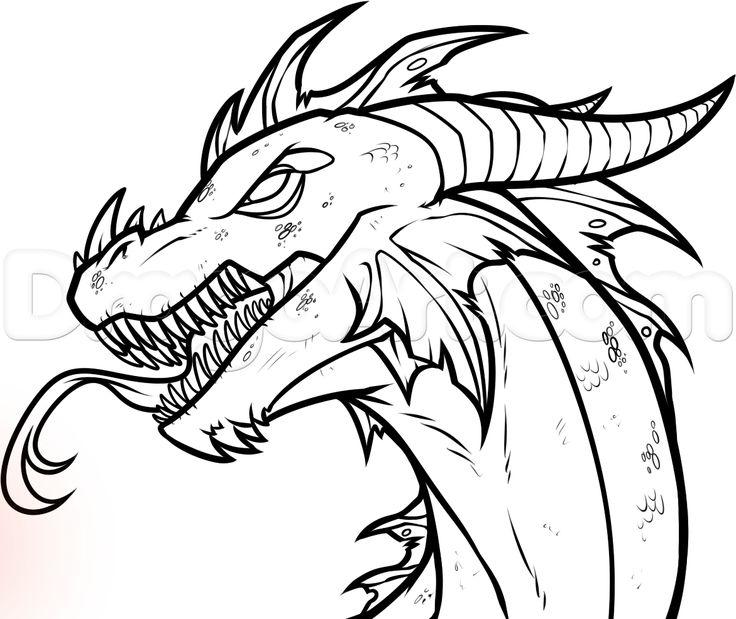 Drawn triipy dragon Dragon an drawings Easy step