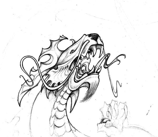Drawn triipy dragon Wikidtron Wikidtron Dragon on DeviantArt