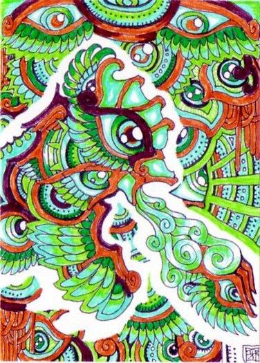 Drawn triipy dragon Lutamesta a breathing drawing wind