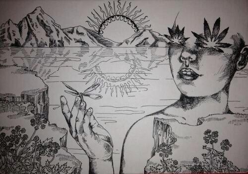 Drawn triipy dragon Janis (@grun_grunie) blocked @grun_grunie Grun