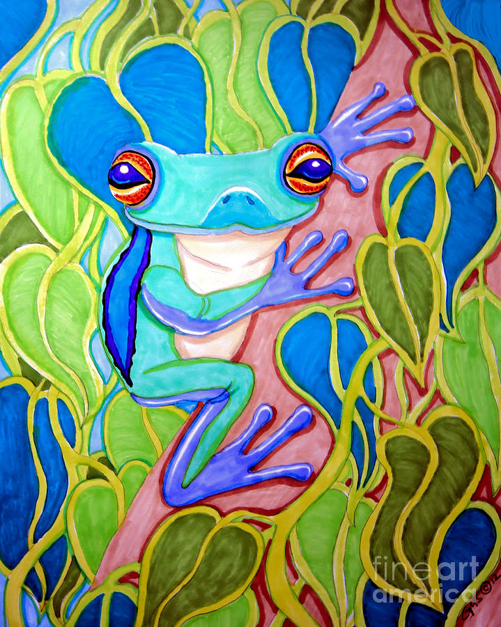 Drawn triipy frog Tree drawing prints Tree Frog
