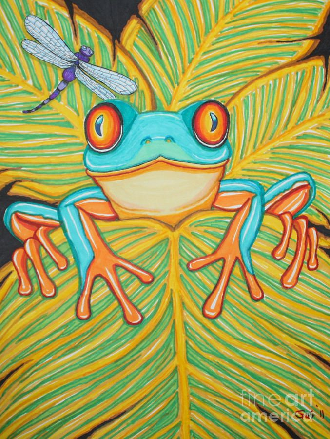 Drawn triipy frog Red Frog Dragonfly 25+ And