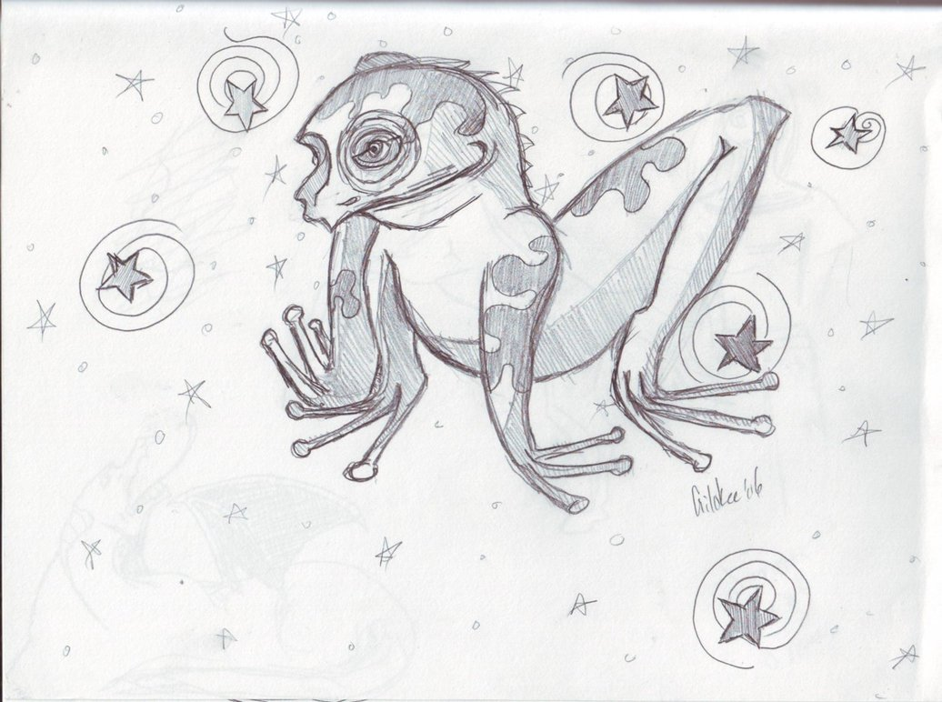 Drawn triipy frog Trippy Gilokee on by Frog