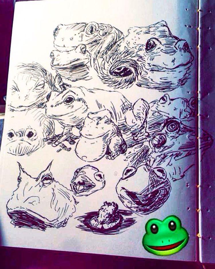 Drawn triipy frog School #frogs Frog — #animal