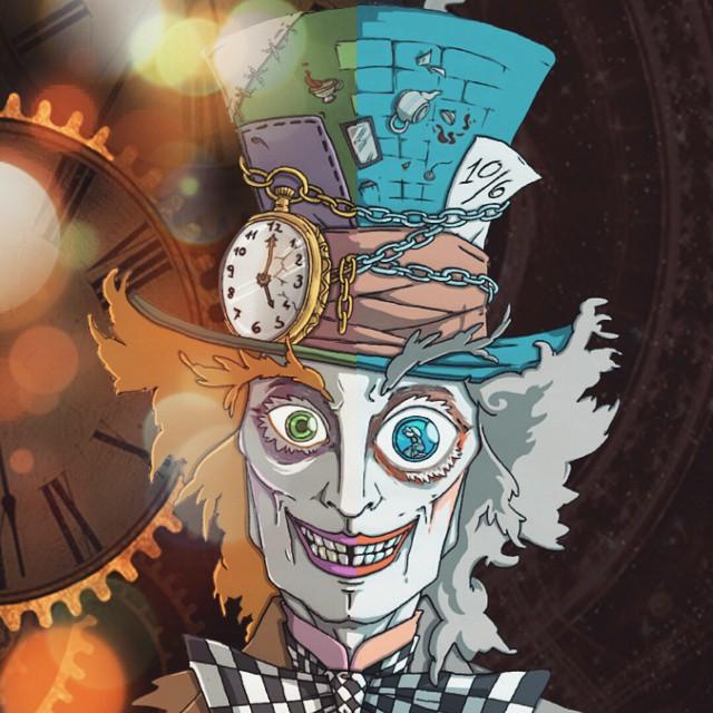 Drawn triipy mad hatter Aliceinwonderland #drawing #crazy #hatter hatter