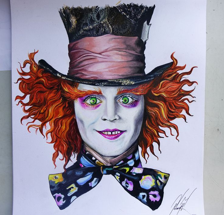 Drawn alice in wonderland mad hatter Alice / hatter The best
