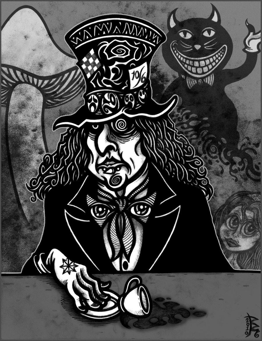 Drawn triipy mad hatter BRUZETOONZ The by MAD by