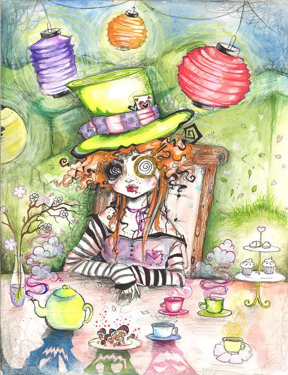 Drawn triipy mad hatter Trippy The Fine Alice Wonderland
