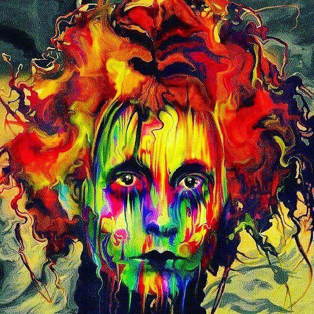 Drawn triipy mad hatter #stoner sane #art #psychedelic #aliceinwonderland