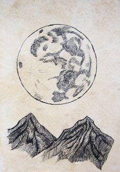 Drawn triipy mountain Hlazatova Daria drawing and Pin
