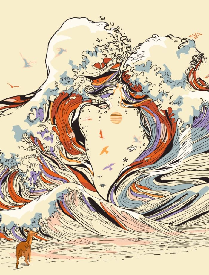 Drawn triipy nature Sea Trippy Drawings drawings of