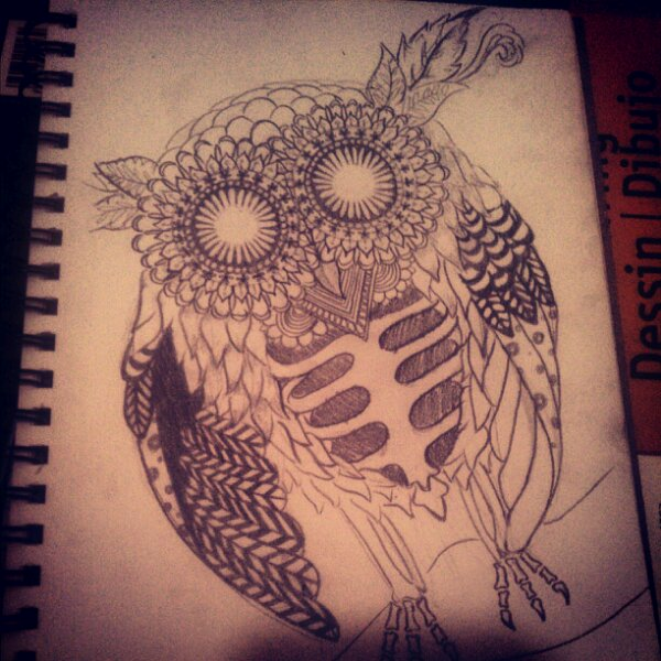 Drawn triipy owl Madness Untitled owl For image