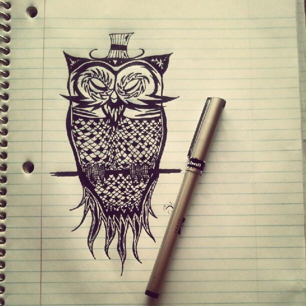 Drawn triipy owl Owl Posh DeviantArt Posh by