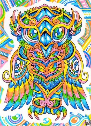 Drawn triipy owl Lutamesta by Owl on lutamesta
