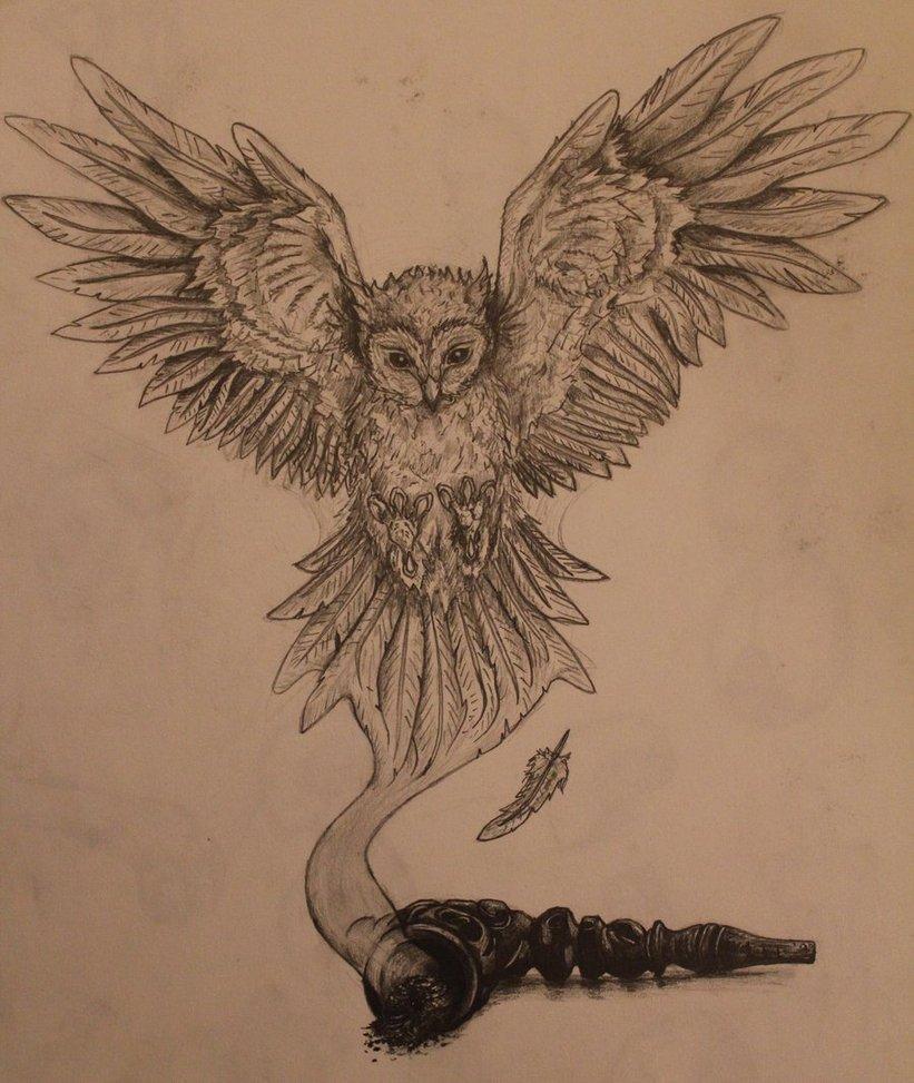 Drawn triipy owl By Owl DeviantArt Owl BnW