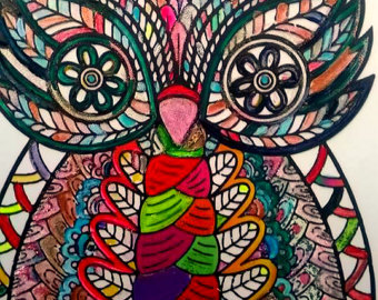Drawn triipy owl Wall drawings luck Owl happy