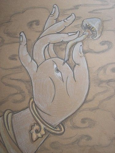 Drawn rabbit psychadelic Print on best 105 Prismacolor